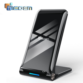 TIEGEM Вт 10 Вт Qi Беспроводное зарядное устройство для samsung Galaxy S8 S9 S7 USB беспроводное зарядное устройство для iPhone 8X8 Plus Беспроводная Быстрая заряд...