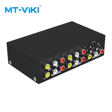 MT-VIKI AV spitter RCA audio und video splitter 1 in 4 out HDTV Projektor Sound playing at the same time mit power MT-104AV mt power se 16