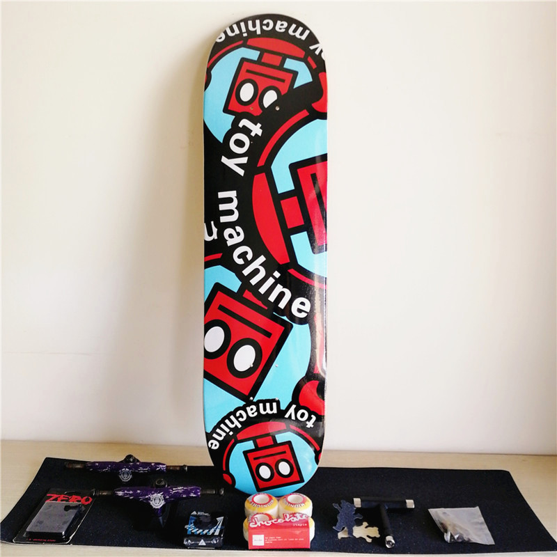 Toy Machine Plan B Skateboard Deck 8 inch Complate Set Canadian Maple Decks & Trucks Wheels & Bearings Skateboard Accessories 1 set quality usa complete skateboard deck 7 875 8 8 125 8 25 inch