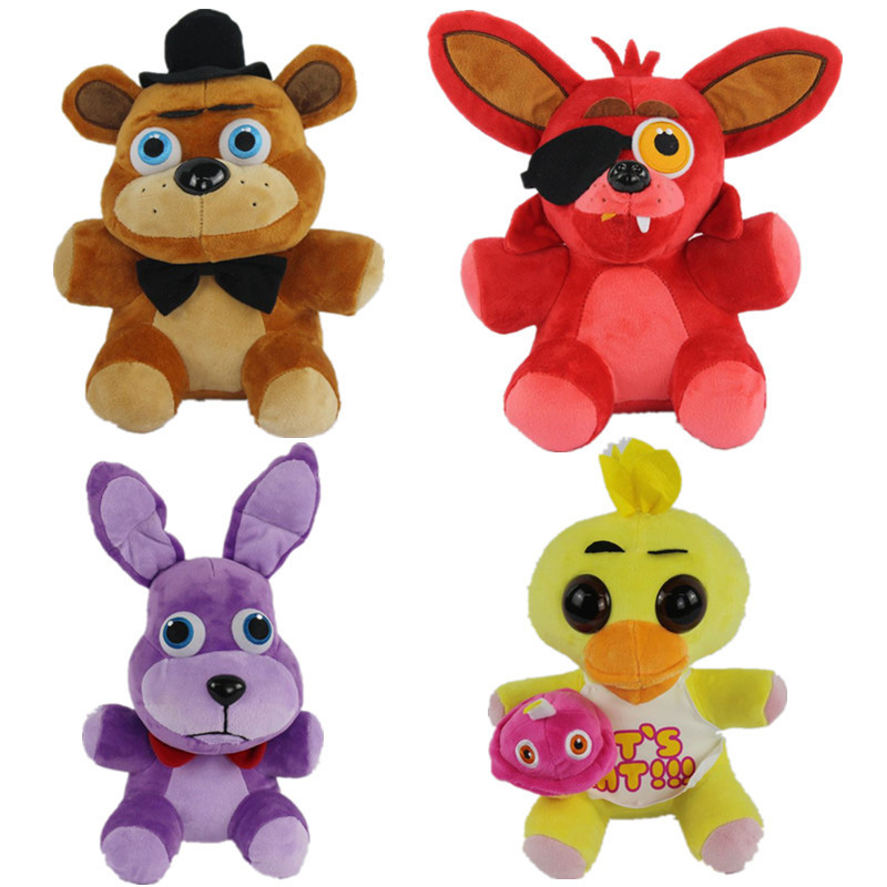 New 18cm/25cm/30cm Kawaii Five Nights At Freddy's 4 FNAF Bonnie Foxy Freddy Fazbear Bear Dog Rabbit Solf Plush Toys Doll 10