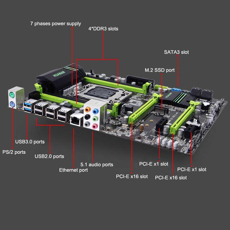 Regalo de Navidad Placa base con M.2 NVMe Huanan Zhi ATX descuento X79 placa base con CPU Xeon E5 2650 V2 2,6 GHz RAM 16G (2*8G) RECC