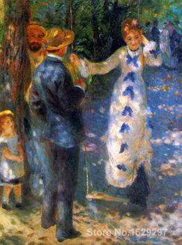 oil reproductions canvas The Swing (La Balancoire) by Pierre Auguste Renoir art Hand-painted High quality