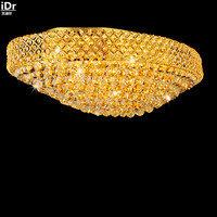 Modern luxury living room crystal lamp golden led oval hall atmosphere villa penthouse floor lamps Ceiling Lights Rmy 0119