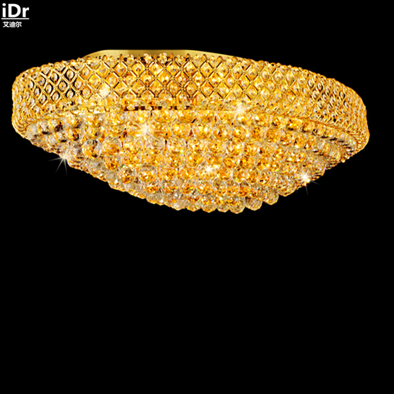 Modern luxury living room crystal lamp golden led oval hall atmosphere villa penthouse floor lamps Ceiling Lights Rmy-0119 5 circle ring modern fashion floor living room led ceiling lights creative villa long circular staircase lights luxury lamp