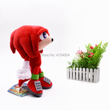 100 pcs/lot Wholesale Peluche Toy Sonic Soft Plush Doll Red Cartoon Animal Stuffed Dolls Christmas Gifts For Children