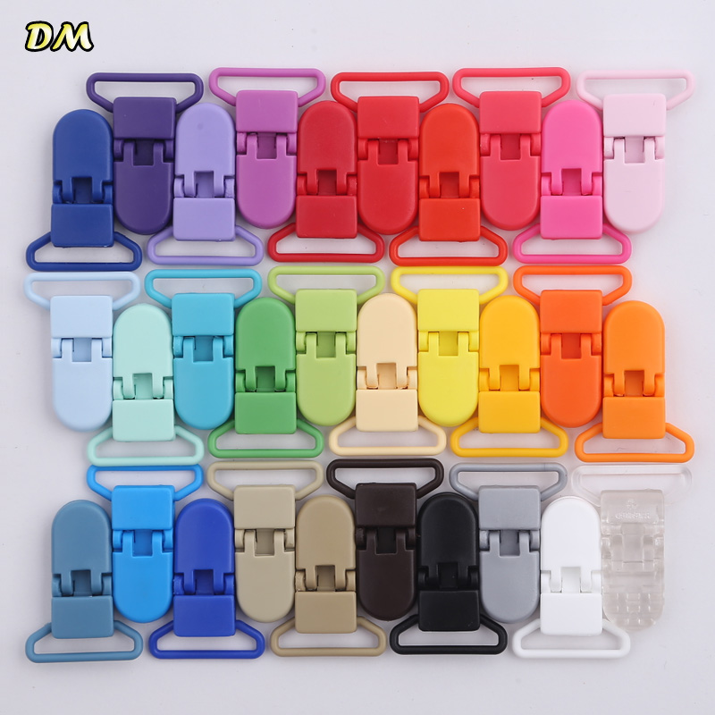 1pcs 25mm Plastic Baby Pacifier Clips Transparent Pacifier Clips Soother Holder For Baby Pacifier Nipples Holder Round Clamp