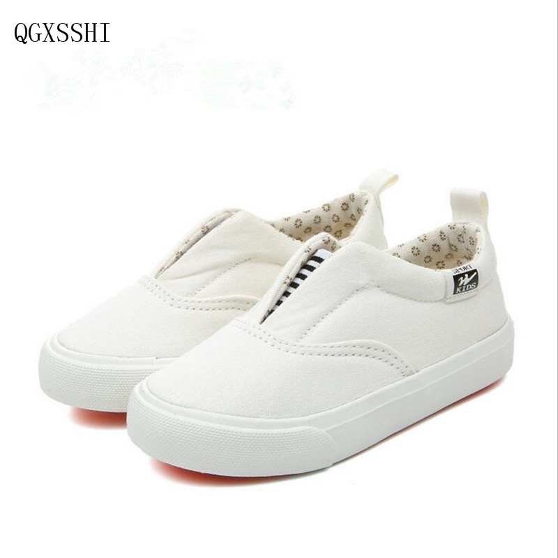 041446f3d8e4 QGXSSHI 2016 new arrival Brands children shoes boys girls shoes Simple  stylish canvas shoe girls boys slip on shoes kids sneaker