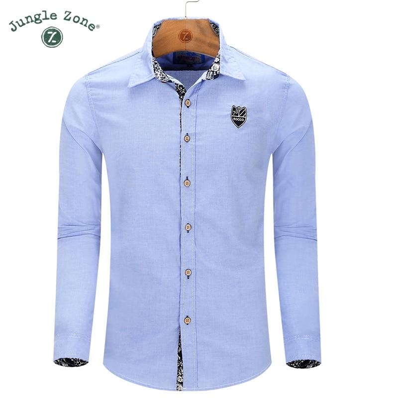 Jungle zone european size new high quality men 39 s long for European mens dress shirts