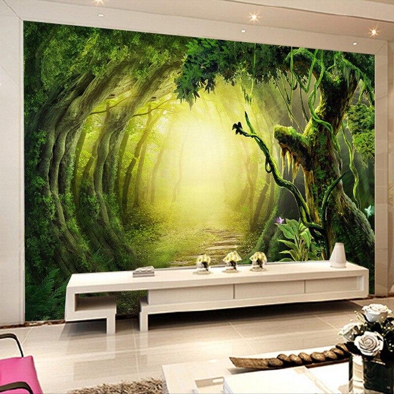 Beibehang 3d Wall Paper Fantasy Forest Trail Custom 3D Stereoscopic 3D Wallpaper TV Background Wallpaper Murals Papel De Parede