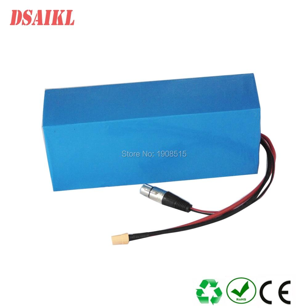Купить с кэшбэком Free shipping and EU US NO TAX 51.8V 52V 15Ah 1000W li-ion battery pack use 18650 30Q power cells with 58.8V 3A charger
