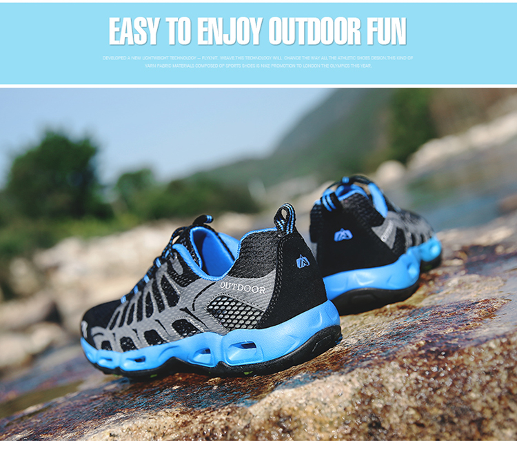New 2017 Summer Unisex Aqua Shoes Air Mesh Clorts Outdoor Shoes Women Sneakers Lace Up Breathable Hiking Shoes Size 35-44 V1 (33)