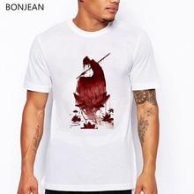 Japanse anime t shirt lotus deadpool Samurai tshirt men vintage sunset dragon print cool tee homme streetwear male t-shirt