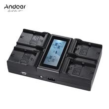 Andoer LP-E6 LP-E6N 4-Channel Dijital Kamera Pil Şarj canon EOS 5DII 5 DIII 5DS 5DSR 6D 7DII 60D 80D 70D