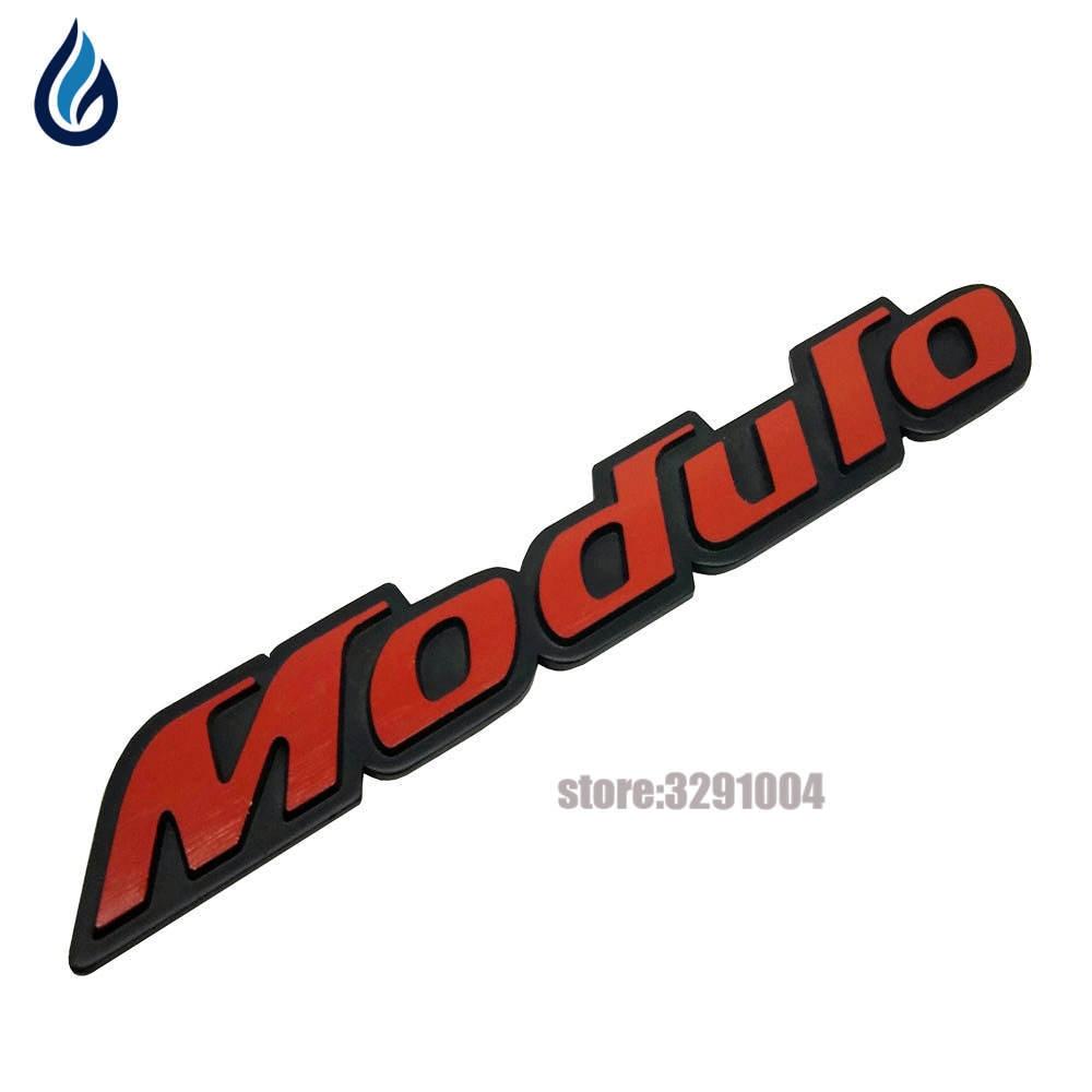 Automonle Emblem MODULO Logo Trunk Decal For Honda Accord Civic CRV Fit H-RV Vezel Odyssey City Jazz Spirior Car Styling 3d vtec full metal zinc alloy car styling refit emblem fender tail body badge sticker for honda civic accord odyssey spirior crv