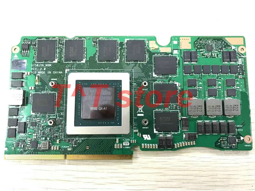 D'origine GTX980M GTX 980 M pour G750J G750JY GPU VGA graphiques vidéo carton 8G GDDR5 G750JYA_MXM bon test livraison gratuite