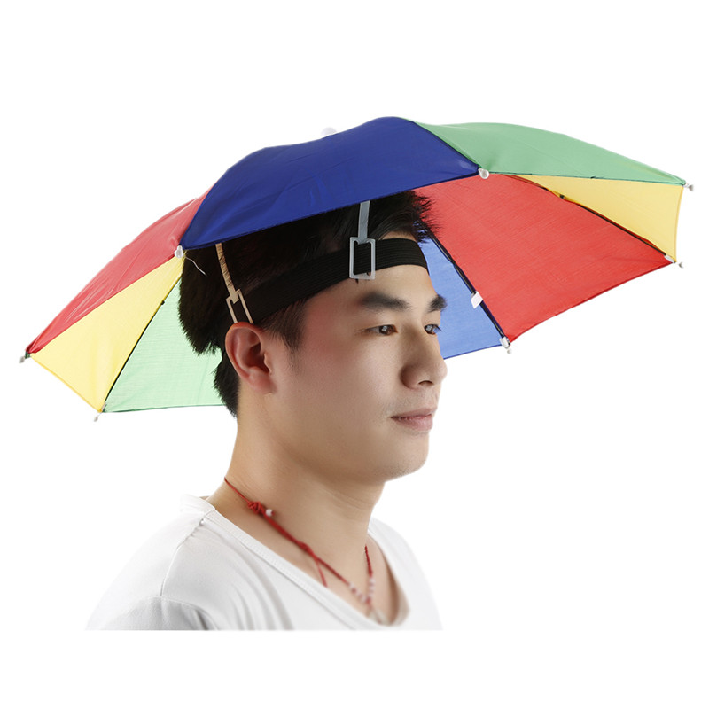 UMBRELLA HATS novelty hat headwear cap fishing sports shade rain men women cap