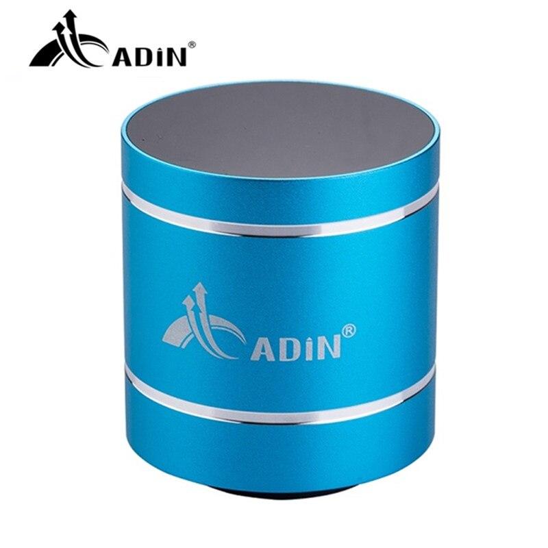 Haut parleur vibrant Adin Mini caisson de basses Bluetooth haut parleur sans fil Portable métal Altavoz Bluetooth haut parleurs portables pour ordinateur-in Portable Haut-parleurs from Electronique    1