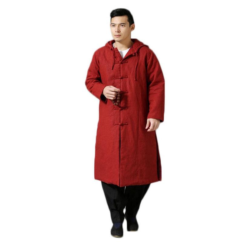 Крутой этнический тренд, модная ветровка, плащ, зимняя куртка, длинное пальто Тренч, мужское пальто, большой размер, 6 цветов - 2