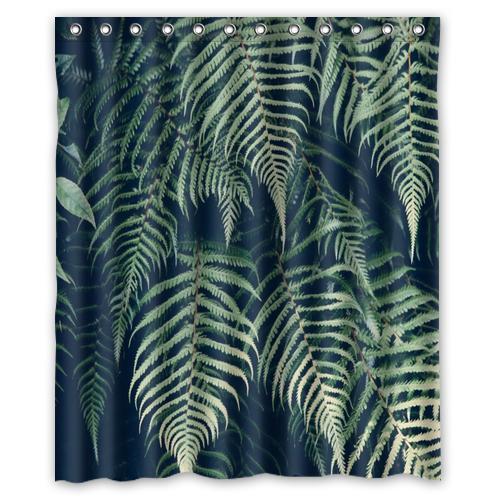 Jungle Feuillage Personnalise Rideau De Douche Salle De Bain Decor