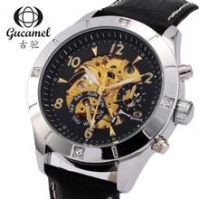 Gucamel Бизнес мужская Мода автоматические механические часы световой водонепроницаемый нержавеющей стали 30 М Для Мужчин Relógio Masculino