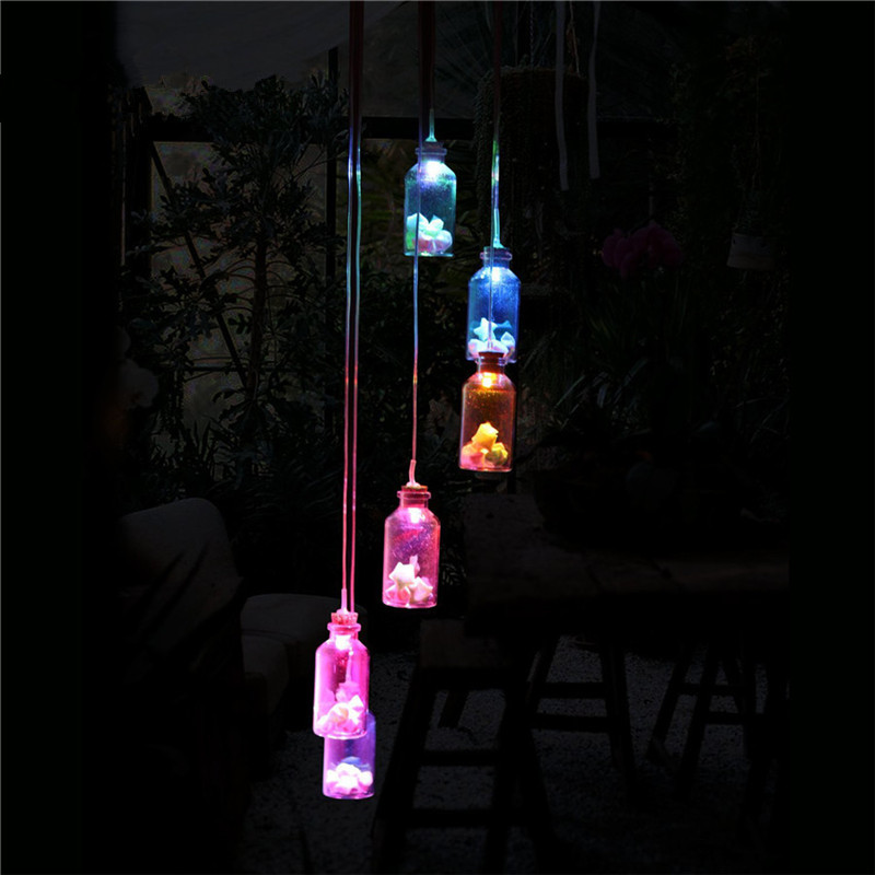 Solar Lamps Solar Wind Chimes Led Light Multicolor 6leds Hanging Bottle Home Decoration Waterproof Party Night Corridor Low Price