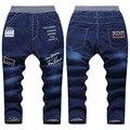 4-10Y Crianças Venda Quente de Algodão Grosso Menino Calça Jeans Solta Sólida casuais Para O Inverno Meninos Outono Calça Jeans Moda infantil Para Denim KJ-1597