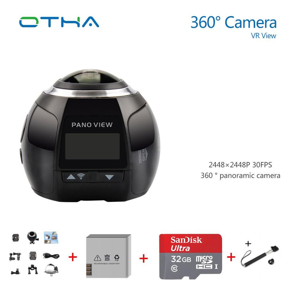 Prix pour 360 Caméra Ultra HD 4 K Panoramique Caméra Construire en WI-FI 360 Degrés Vidéo Caméra Étanche Sport & Action Conduite VR caméra