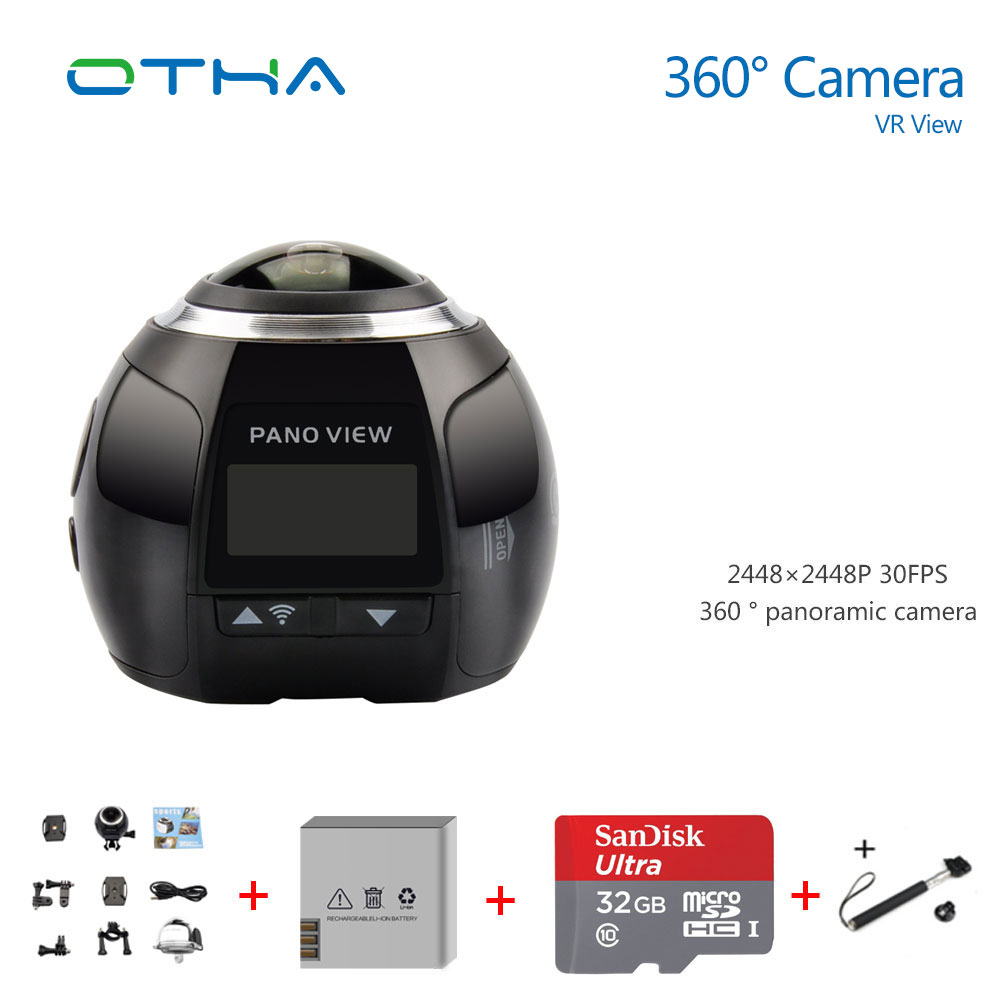 360 Camera Ultra HD 4K Panoramic Camera Build in WI FI 360 Degree Video Camera Waterproof