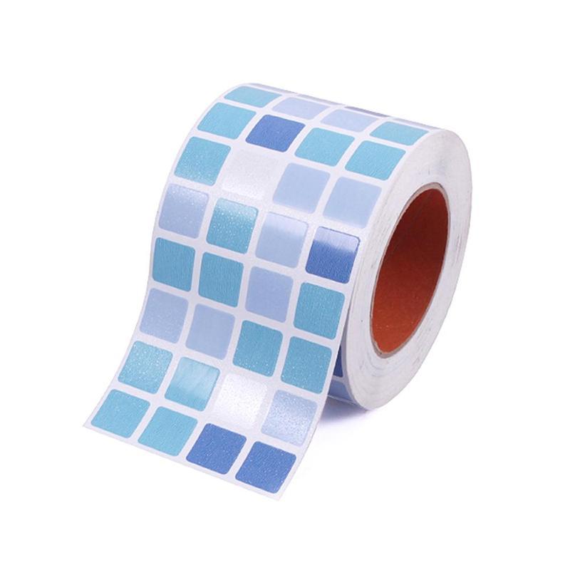 Waterproof Tiles Mosaic Wall Sticker Kitchen Bathroom Toilet Adhensive Anti Oil PVC Wallpaper Heat Resistance Wall Decor A40