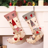 2016 New Christmas Stocking Artificial Christmas Tree Ornaments Christmas Decorations For Home Santa Clause Snowman Stockings