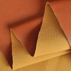 Image 5 - 100*138cm Litchi Sentetik Deri PU Deri Kumaş Suni suni Deri Kumaşlar DIY Çanta Kanepe Dekorasyon Dikiş Malzemeleri Düz renkli Sahte Yapay Suni Deri Kumaş Dikiş DIY Çanta Ayakkabı Malzemesi