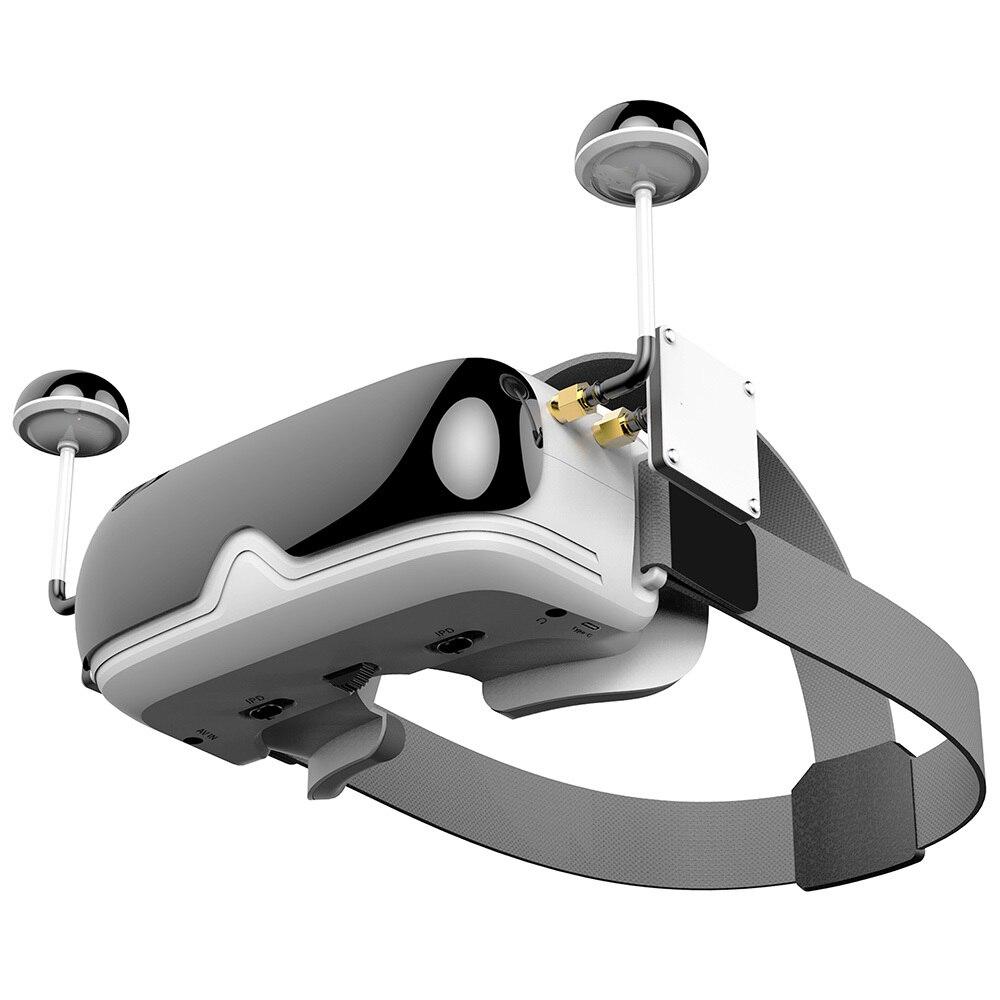 В наличии TOPSKY Prime1 FPV очки HD 4:3 экран 40CH 5,8 Г встроенный аккумулятор двойные модули антенны FPV очки для RC Дрон