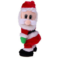 Electric Christmas Santa Claus Toys Shaking Butt Walk Christmas Twisted Wiggle Hip Twerking Animated Plush Dancing Table Desk