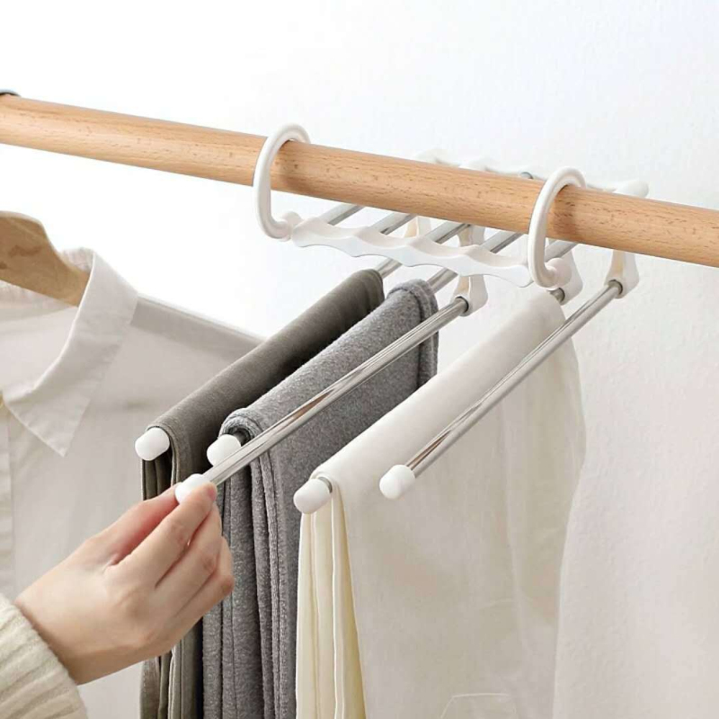 1PC Multilayer Stainless Steel Clothing Storage Racks Clothes Hanger Storage Holder Laundry Drying Rack Closet Organizer