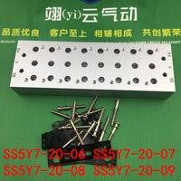 SS5Y7-20-06 SS5Y7-20-07 SS5Y7-20-08 SS5Y7-20-09 SMCtype colector solenoidvalve base SY7000 Serie de la válvula de solenoide de placa