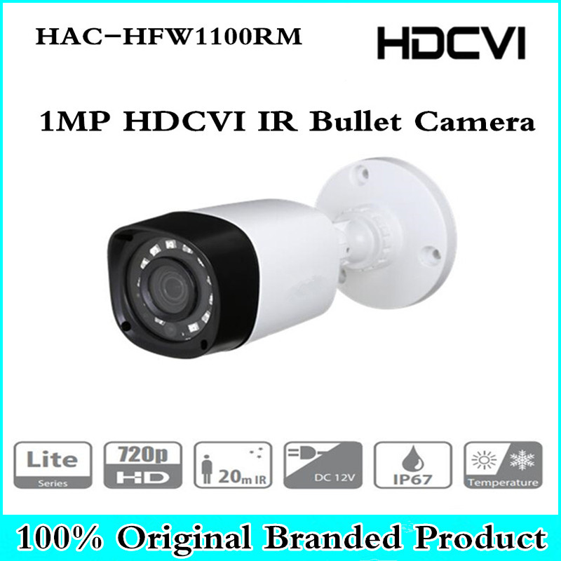 DH Wholesale HAC-HFW1100RM 1MP HDCVI IR Bullet Camera Smart IP67 720P HD CCTV Lite Series DH-HAC-HFW1100RM metal housing dahua outdoor indoor hdcvi camera dh hac hdw1100e 1mp hd network ir security cctv dome camera ir distance 40m hac hdw1100e ip67