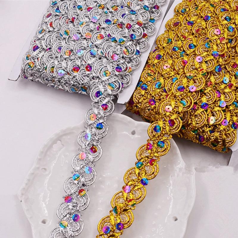 Sequin Hologram Metallic Braid Various Colours 2cm   Sewing//Crafts//Costume