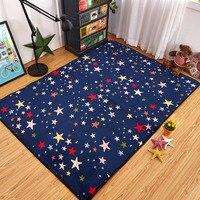 Mode Kleurrijke Sterren Sky Woonkamer Slaapkamer Decoratieve Tapijt Gebied Tapijt Badkamer Vloer Deur Yoga Baby Kruipen Speelkleed Blauw