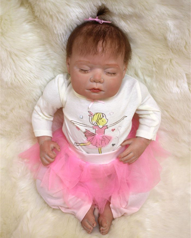 50cm Silicone reborn baby sleeping doll toy lifelike 20inch newborn princess babies doll bebe reborn girls bonecas birthday gift 50cm soft body silicone reborn baby doll toy lifelike baby reborn sleeping newborn boy doll kids birthday gift girl brinquedos
