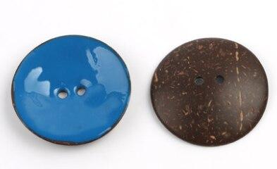 Цветная круглая Кокосовая декоративная кнопка, большая Деревянная пряжка, сделай сам, пальто для одежды, Кокосовая оболочка, клеевая кнопка, Детская Кнопка 63 мм - Цвет: 12