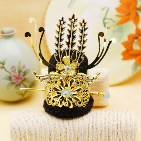 Vintage Hair Accessories Chinese Ancient Dynasty Warrior Cosplay Prince Cosplay Head Wear Prince Crown Emperor Crown King Kids Costumes & Accessories