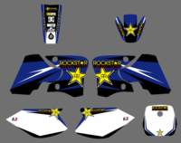 NICECNC Motorcycle Star Sticker Decal Kit For Yamaha TTR90 TTR 90 2000 2007 Blue Background Graphic Stickers 2001 2002 2003 2004