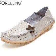 Лето 2017 г. натуральная кожа с вырезами женская обувь повседневные устойчивые туфли дышащие модные женские туфли лоферы на плоской подошве размеры 34–44