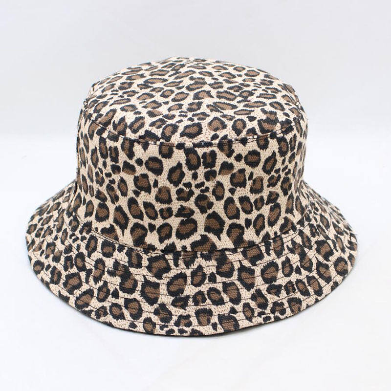 LDSLYJR 2018 Leopard Print Bucket Hat Fisherman Hat Outdoor Travel Hat Sun Cap Hats For Men And Women 280(China)