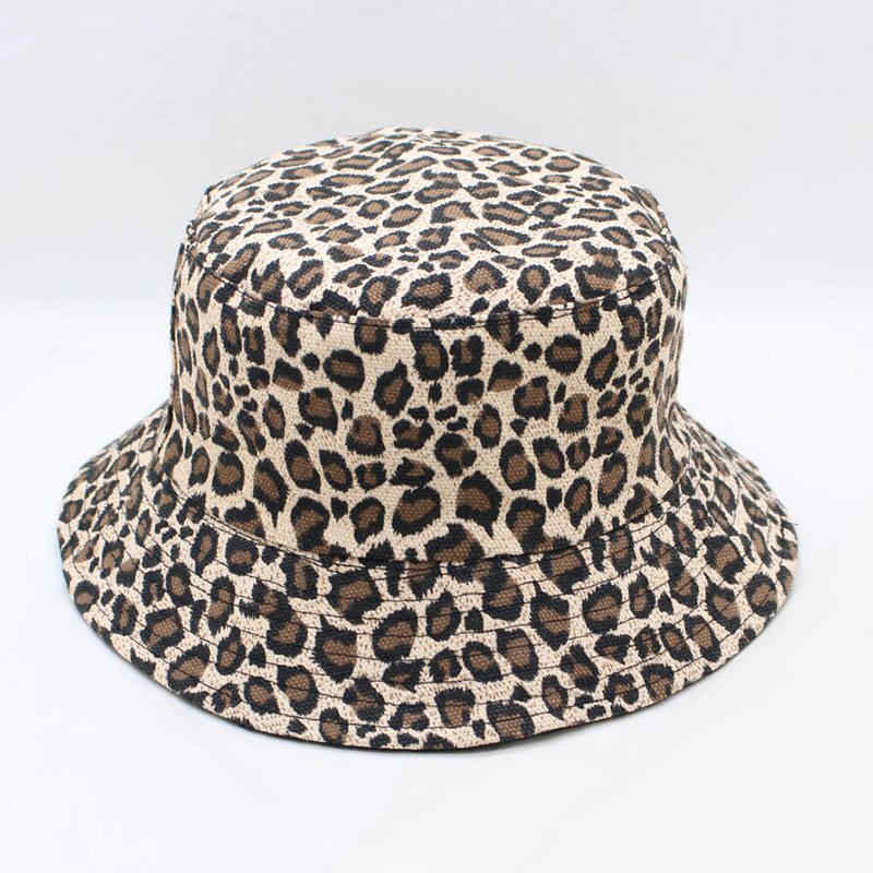 a37a97feb9e LDSLYJR 2018 Leopard print Bucket Hat Fisherman Hat outdoor travel hat Sun  Cap Hats for Men
