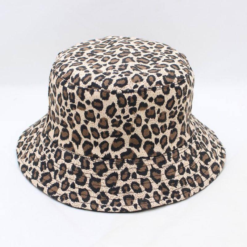 LDSLYJR 2020 Leopard Print Bucket Hat Fisherman Hat Outdoor Travel Hat Sun Cap Hats For Men And Women 280