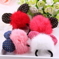Baby Hairband Girls Elastic Hair Bands Hair Accessorie Ear Pompon Tie Rope For Girl Ring Rope Lovely Headwear Ponytail Holder 17