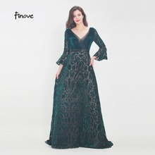 Finove Evening Dress 2019 Floor Length Vintage Sleeves