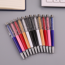 1 PC Creative Crystal Diamond Ballpoint Pen Fashion Stylus Touch for Writing Stationery Office & School Ballpen