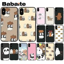 Babaite We Bare Bears Customer High Quality Phone Case for Apple iPhone 8 7 6 6S Plus X XS MAX 5 5S SE XR Mobile Cover yinuoda demi lovato customer high quality phone case for apple iphone 8 7 6 6s plus x xs max 5 5s se xr mobile cover